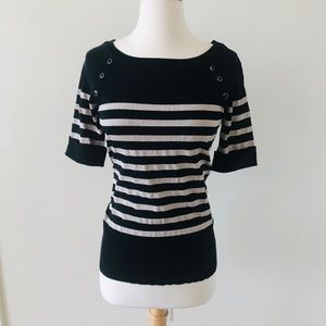 WHBM Black and Gold Top